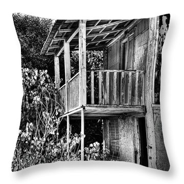Abandoned, Kalamaki, Zakynthos Throw Pillow