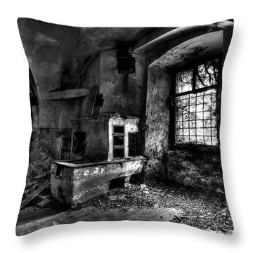 Abandoned Kitchen Throw Pillow