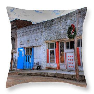 Abandoned Main Street Throw Pillow by Douglas Barnett