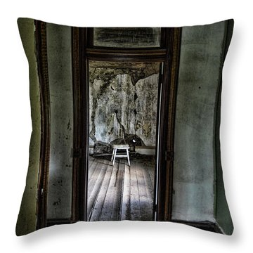 Abandoned Mansion #1 Throw Pillow
