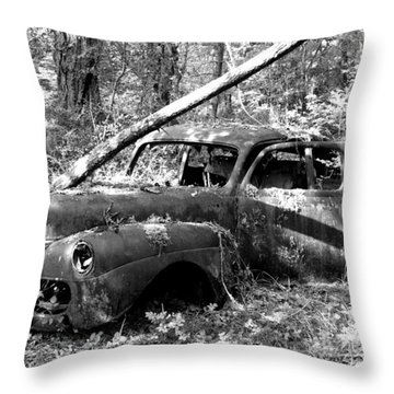 Abandoned Throw Pillow by Mark Alan Perry