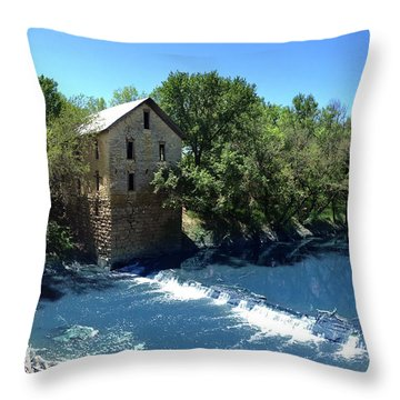 Abandoned Mill At Cedar Point Throw Pillow