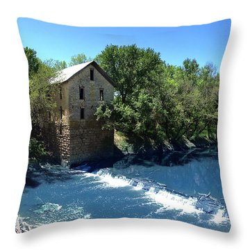Throw Pillow featuring the photograph Abandoned Mill At Cedar Point by Rod Seel