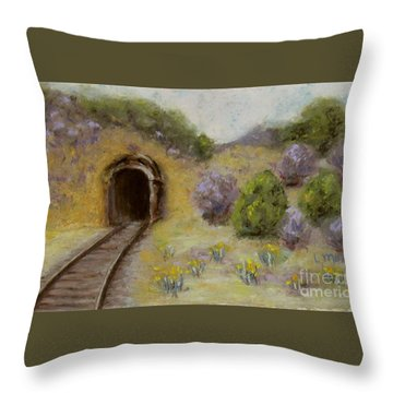 Abandoned Mine Throw Pillow by Laurie Morgan