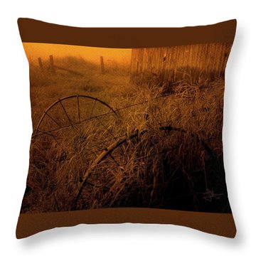Throw Pillow featuring the photograph Abandoned Near Joyceville Road by Jim Vance