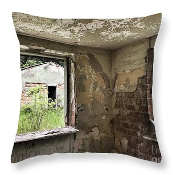 Abandoned Old Ammunition Depot Of The Belgian Army  Throw Pillow