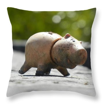 Abandoned On The Boardwalk Throw Pillow