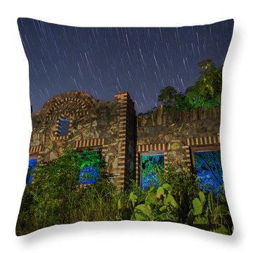 Abandoned Outlaw Gas Station II Throw Pillow