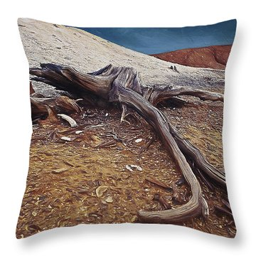 Abandoned Quarry Throw Pillow