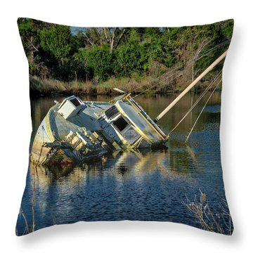 Abandoned Ship Throw Pillow