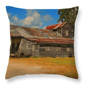 Abandoned Store Throw Pillow