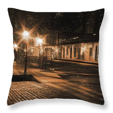 Abandoned Street Throw Pillow