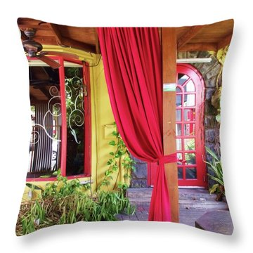 Abandoned Terrace Throw Pillow by Anna Villarreal Garbis