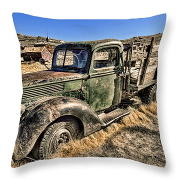 Abandoned Truck Throw Pillow by Jason Abando