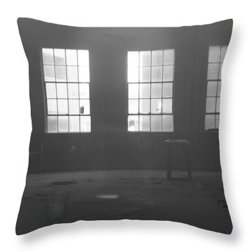 Abandoned Warehouse Throw Pillow by Carol Turner