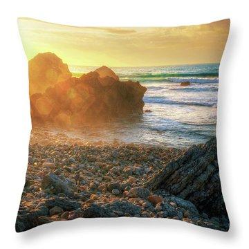 Abano Beach Throw Pillow