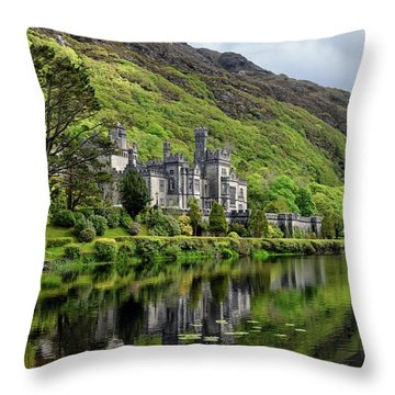 Abbey By The Lake Throw Pillow