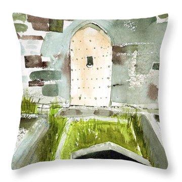 Abbey Door Throw Pillow