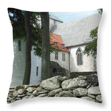 Abbey Exterior #2 Throw Pillow