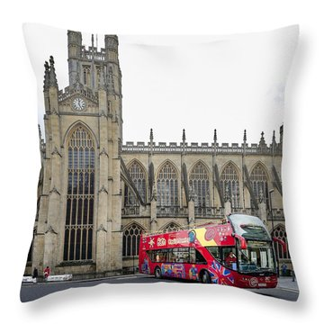 Abbey In Bath, Uk Throw Pillow