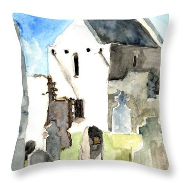 Abbey Watercolor Throw Pillow