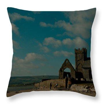 Abbeyside Church Throw Pillow