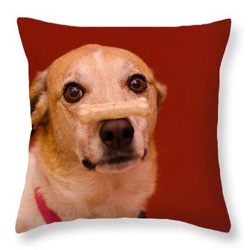 Abbie And A Bone Throw Pillow