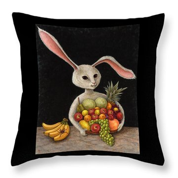 Abbondanza Throw Pillow by Holly Wood