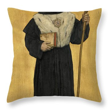 Abbot Of The Eeckhoutten Throw Pillow
