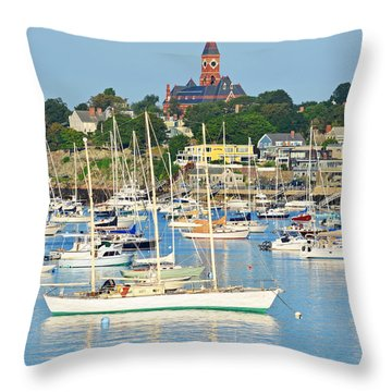Abbot Hall Over Marblehead Harbor From Chandler Hovey Park Throw Pillow