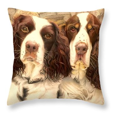 Abby And Romeo Throw Pillow