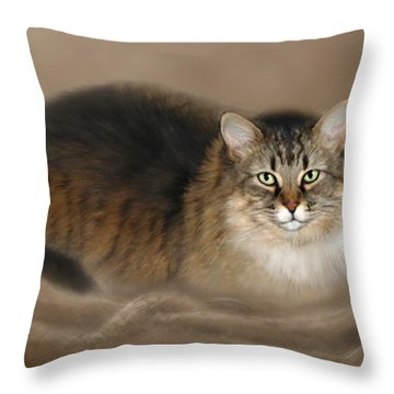 Abby Throw Pillow by Barbara Hymer