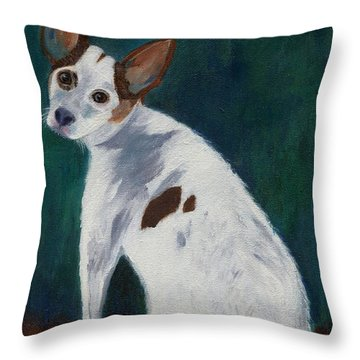 Throw Pillow featuring the painting Abby by Jamie Frier