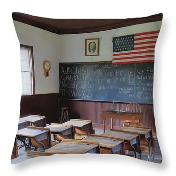 Abc's Of Learning Throw Pillow