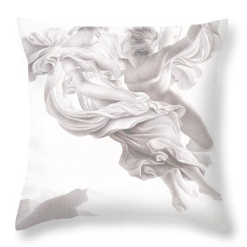 Abduction Of Psyche Throw Pillow