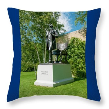 Abe Hanging Out Throw Pillow by Greg Fortier