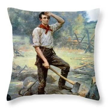 Abe Lincoln The Rail Splitter  Throw Pillow