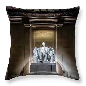Abe Lincoln Under His Night Lights  Throw Pillow