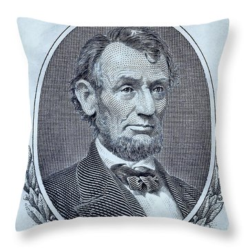 Throw Pillow featuring the photograph Abe On The 5 Cyan by Rob Hans