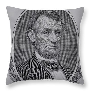 Throw Pillow featuring the photograph Abe On The 5 Gray by Rob Hans