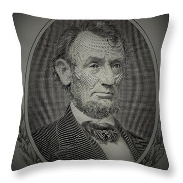 Throw Pillow featuring the photograph Abe On The 5 Grey by Rob Hans