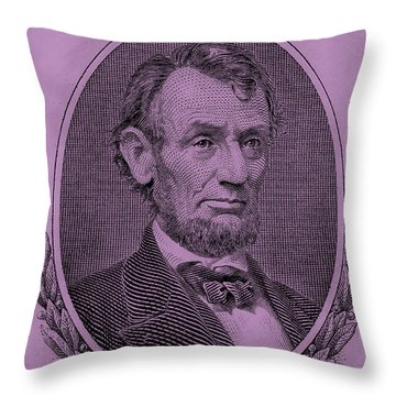Throw Pillow featuring the photograph Abe On The 5 Pink by Rob Hans