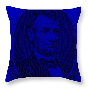 Throw Pillow featuring the photograph Abe On The 5 Violet by Rob Hans