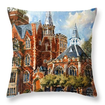 Abercorn-the Old Grammar School Throw Pillow by David Gilmore