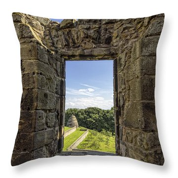 Throw Pillow featuring the photograph Aberdour Castle by Jeremy Lavender Photography