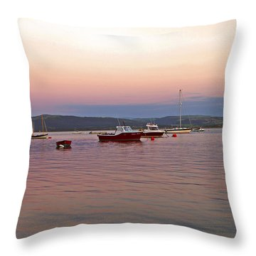 Aberdovey Moorings. Throw Pillow