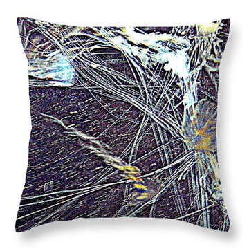 Throw Pillow featuring the photograph Aberration Of Jelly Fish In Rhapsody Series 1 by Antonia Citrino