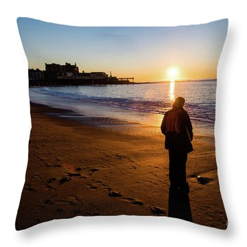 Aberystwyth Sunset Throw Pillow