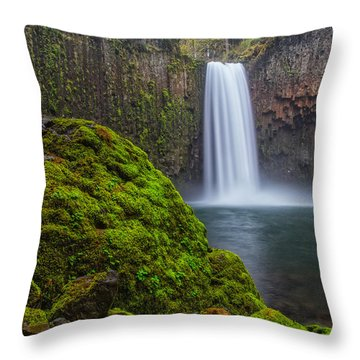 Throw Pillow featuring the photograph Abiqua Falls by Patricia Davidson