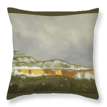 Abiquiu Band Of Gold Throw Pillow